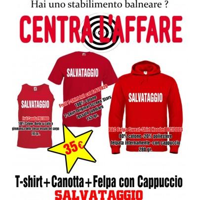 Canotta+T-Shirt+Felpa Cappuccio